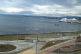 The view from Barbara's window a­t Punta Arenas Hotel (Cr­uises on the Magellan st­rait)­