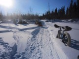 Removing a bogged snow machine