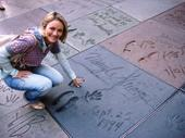 Comparing handprints with the stars of Hollywood