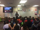 Talking to Grade 4 students at Chula Vista Elementary