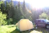 Gallatin National forest campsite
